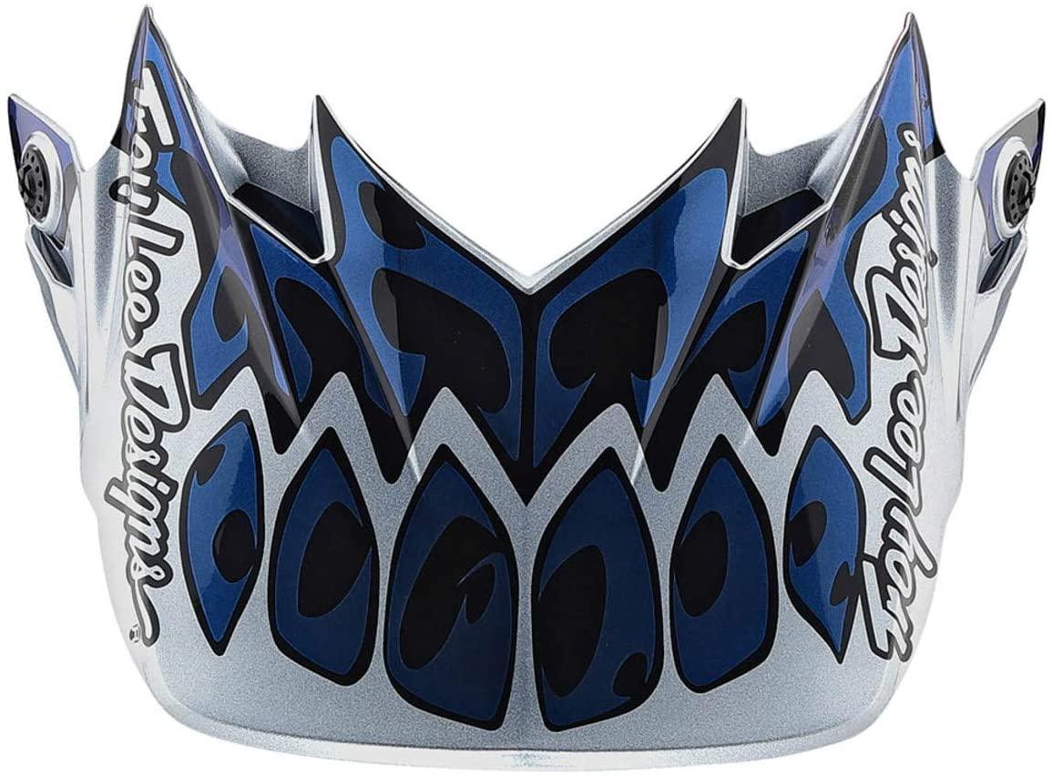 Blue/Silver/Black Troy Lee Designs SE4 Skully Helmet Visor
