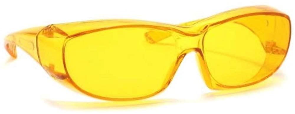 Safety Glasses Side Shield ANSI Z87.1 UV Protection Fits Over Glasses