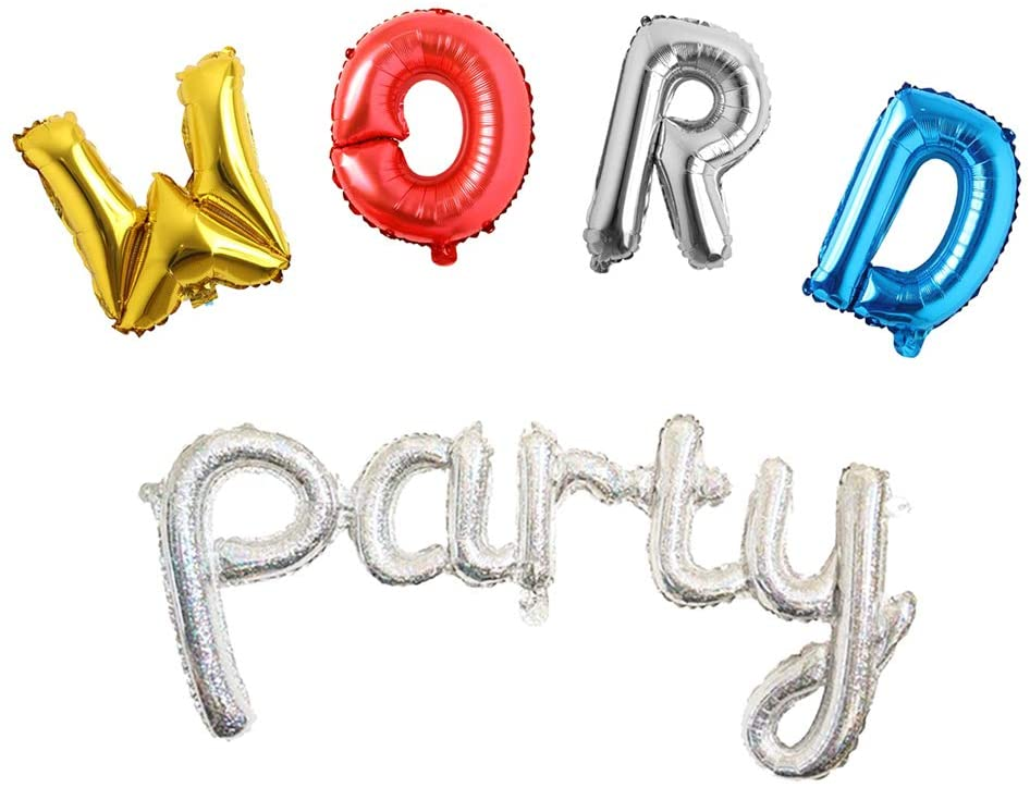 Decorations for Word Party Decorations Balloons Letter Balloon Decoration for Kids Birthday Party Supplies
