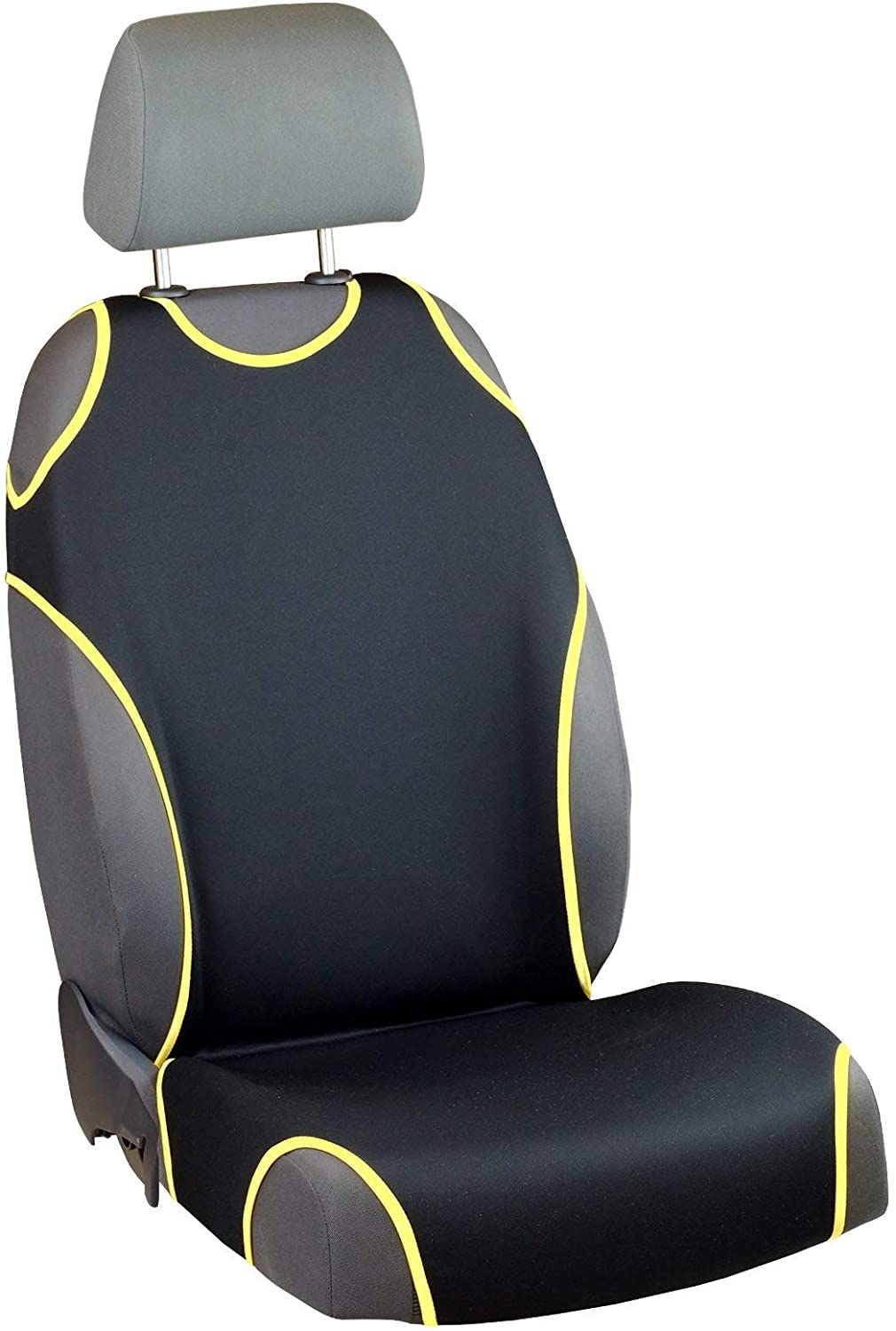 Zakschneider Car Seat Covers for Venga - Driver Seat - Color Premium Black & Yellow
