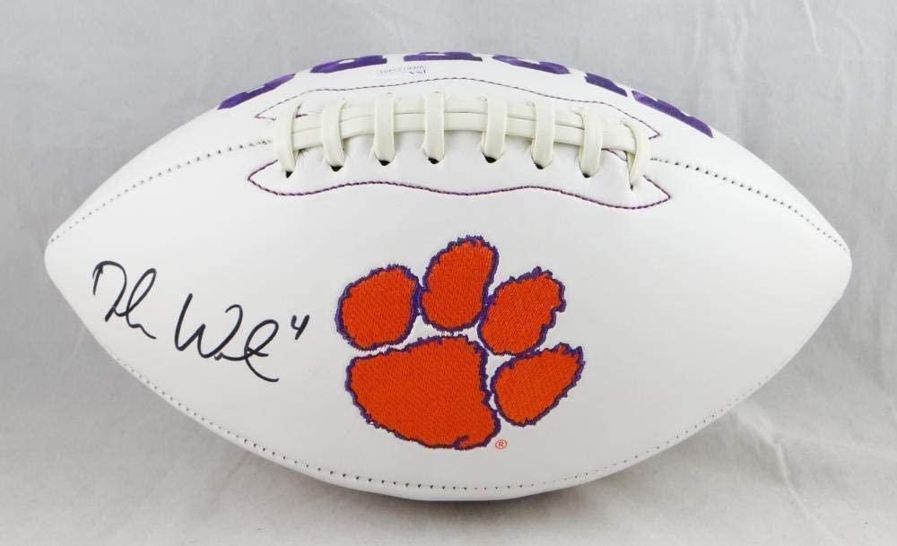 DeShaun Watson Autographed Clemson Tigers Logo Football - W Auth - JSA Certified - Autographed College Footballs