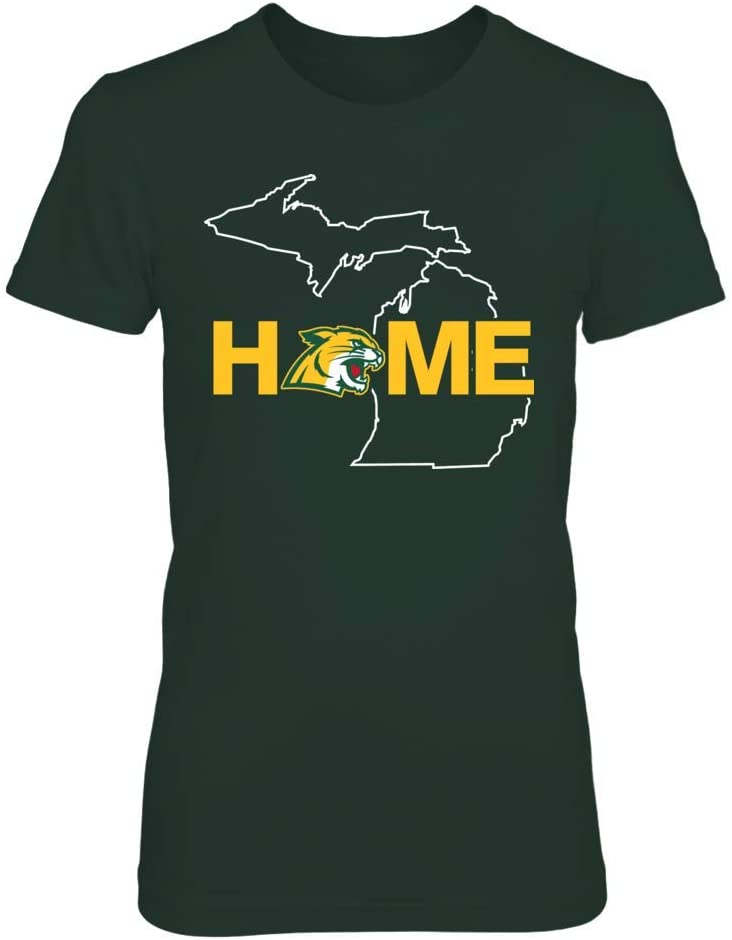 FanPrint Northern Michigan Wildcats Hoodie - Home in State Outline
