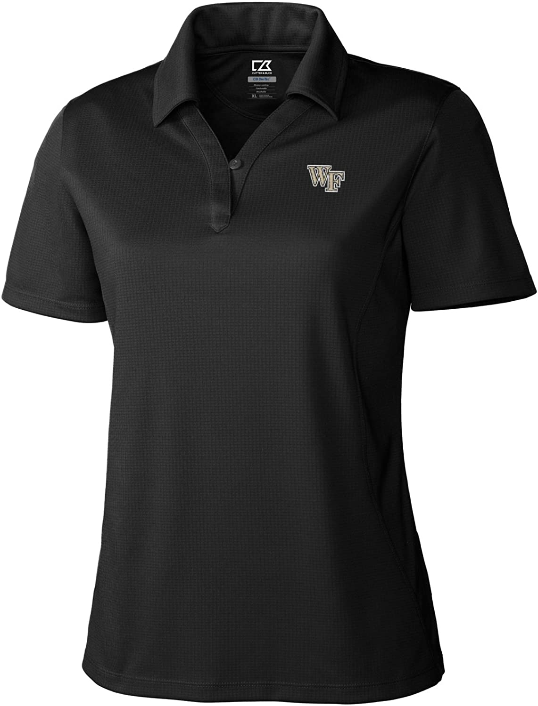 NCAA Wake Forest Demon Deacons Women's Genre Polo, Black, Large