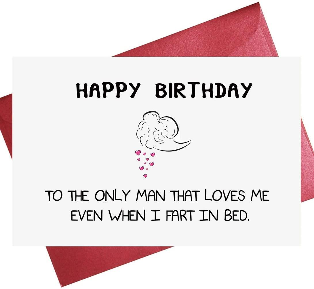 Funny Birthday Card, Funny Birthday Card for Husband, Birthday Card for Boyfriend, Love Card for BF Husband (5.3'' x 8'' folded)