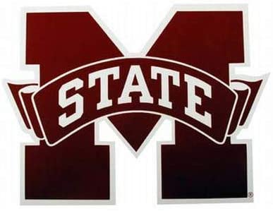 NCAA Mississippi State Bulldogs Car Magnet (Large, 2 Pack)
