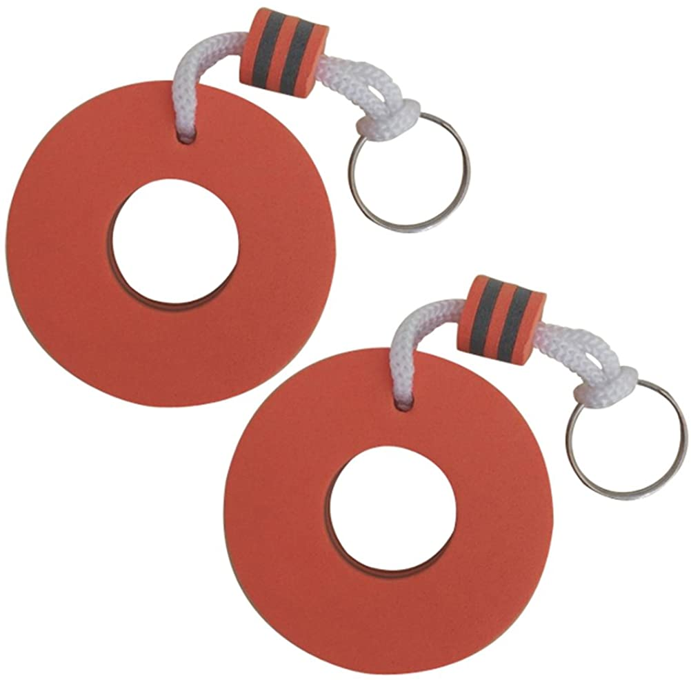 LIOOBO Floating Keyring, Water Buoyant Keychain, Eva Safety Key Chain for Swimming Pool, Gym, Mall, Sauna (Lifebuoy)