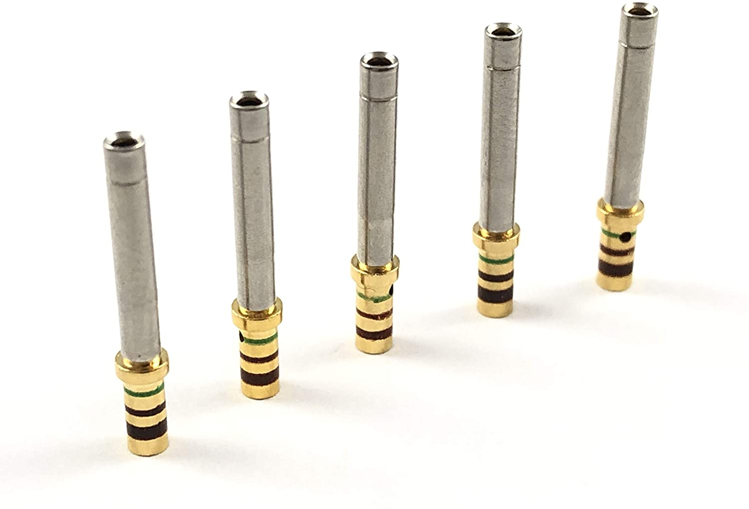 50x Deutsch/TE M39029/5-115 MIL-Spec 24-20 AWG Gold Solid Socket Female Contact Terminal