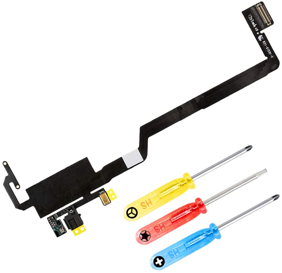 MMOBIEL Light Sensor Flex Cable Incl Mic Compatible with iPhone X 5.8 inch incl. Screwdrivers