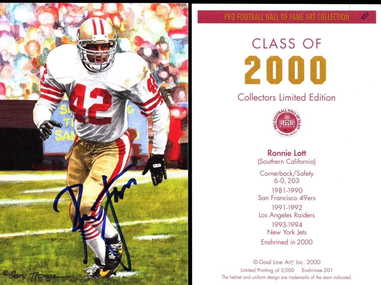 Ronnie Lott Signed - Auto 2000 Goal Line Art Card GLAC - San Francosco 49ers