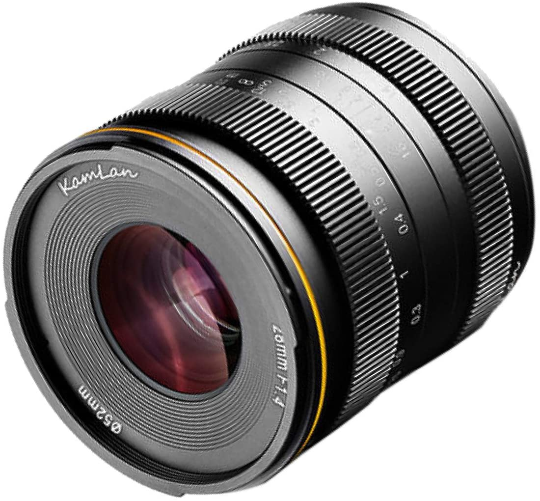Kamlan 28mm F1.4 APS-C Large Aperture Manual Focus Lens, Wide-Angle Lens for Mirrorless Camera with Roolad Lens Bag and UV (EOSM)