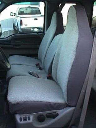 Durafit Seat Covers Made to fit 1993-1998 Truck F150-F550 Regular, XCab and Crew Cab High Back 40/20/40 Split Seat with Molded Headrests and Opening Center Cons. Made in Gray Endura