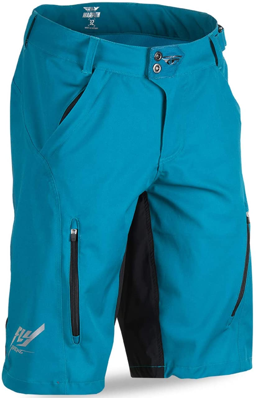 Fly Racing Unisex-Adult Warpath Shorts (Teal/Black, Size 30)