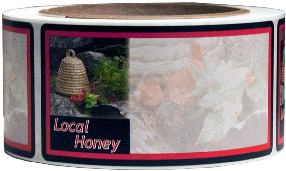 Mann Lake 250 Count Garden Skep Local Honey Label, 2 by 4-Inch
