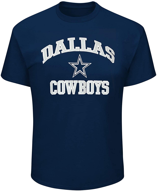 Dallas Cowboys Men's Big & Tall Short Sleeve T-Shirt - Navy (3XL)