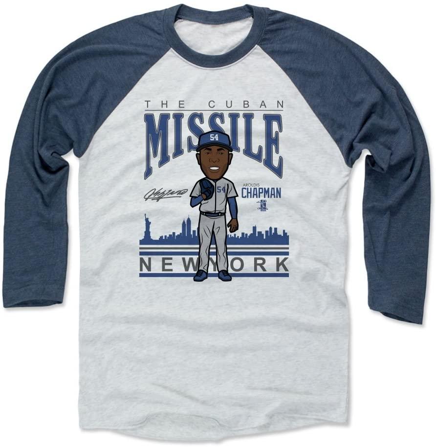 500 LEVEL Aroldis Chapman Shirt - New York Baseball Raglan Tee - Aroldis Chapman Missile