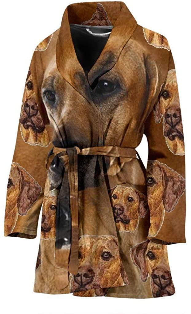 Rhodesian Ridgeback Dog Patterns Print Women's Bath Robe