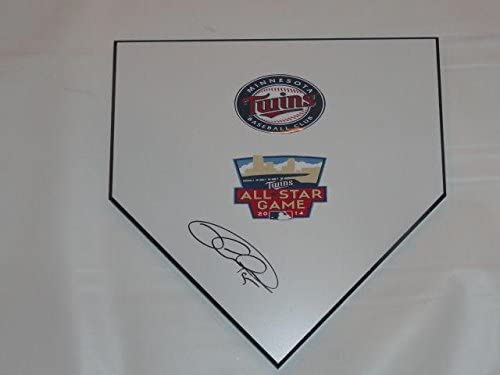Glen Perkins Signed Home Plate Minnesota Twins Autographed All Star Proof - MLB Game Used Bases
