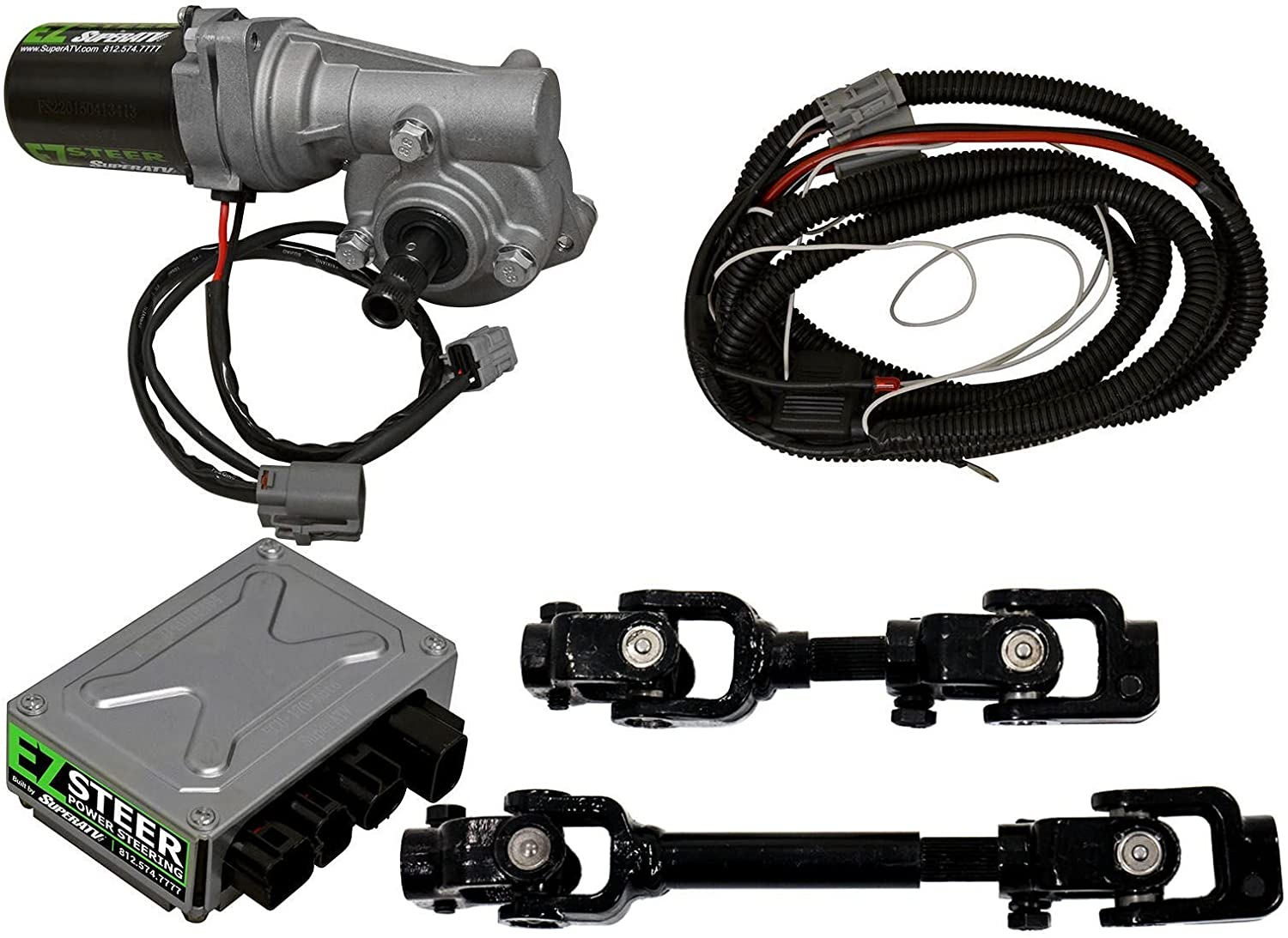 SuperATV EZ-STEER Power Steering Kit for Honda Pioneer 700 (2017+) - Eliminates Bump Steer and Reduces Steering Efforts For a More Enjoyable Ride!