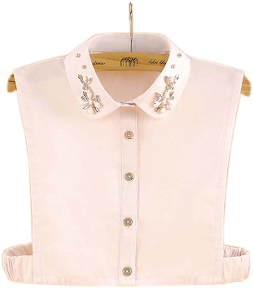 George Jimmy Elegant Women's Fake Half Shirt Blouse Collar Detachable Collar, 20 White