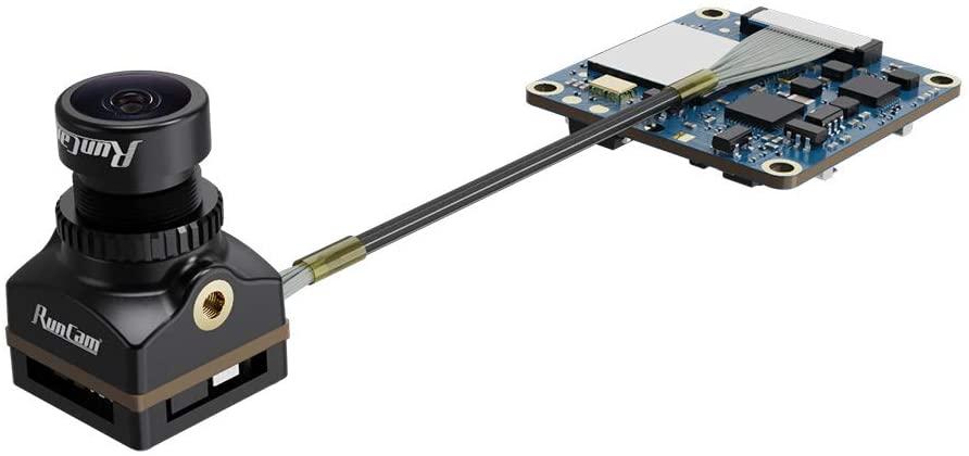 RunCam Split 4 Micro FPV Camera 4K FOV 140 Degree Low Latency FPV 2 in 1 DC 5-20V with 13MP 1080P HD Recording NTSC/PAL Switchable for FPV Racing Drone Black