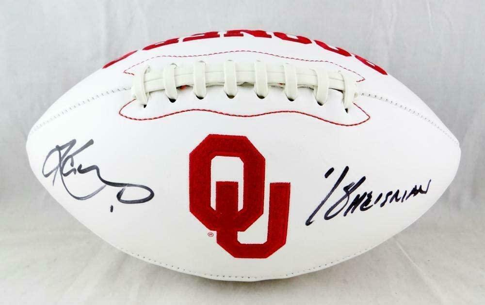 Kyler Murray Signed Oklahoma Sooners Logo Football W/Heisman- Beckett Auth - Beckett Authentication
