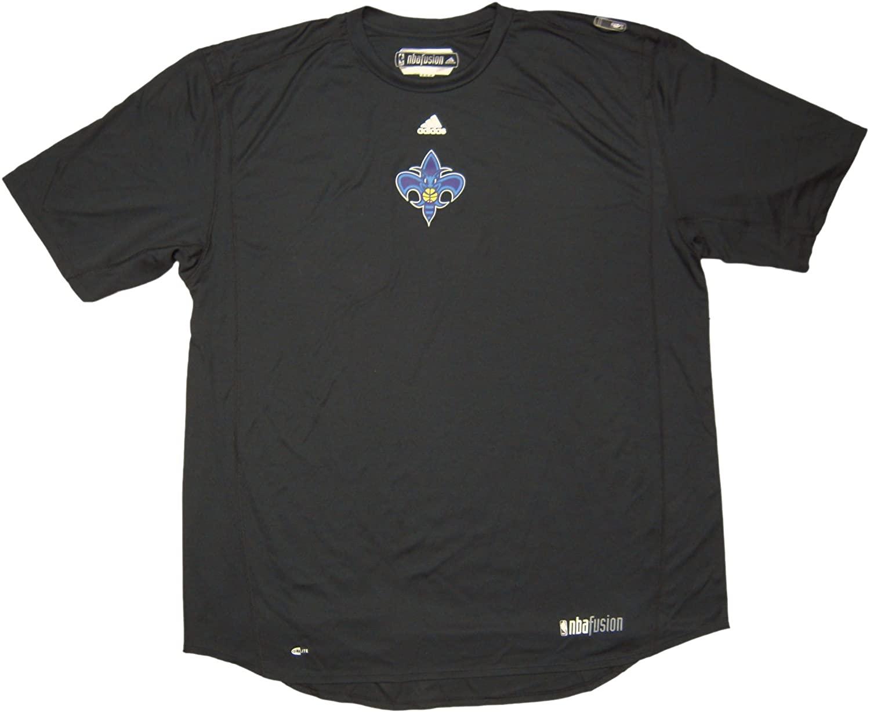 New Orleans Hornets Team Issued Short Sleeve adidas NBA Fusion Training Shirt Size 3XL - Black