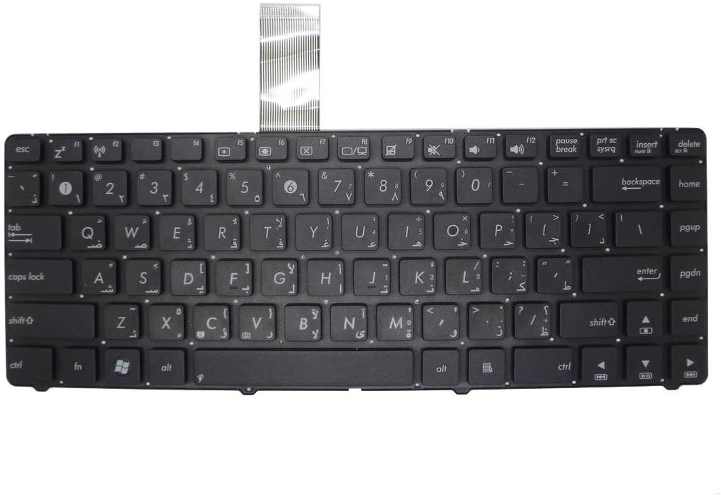 GAOCHENG Laptop Keyboard for ASUS U44 U44S U44SG Black Without Frame Arabia AR V111362AS