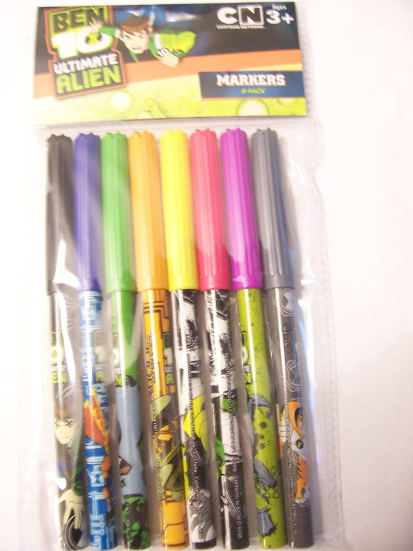 Cartoon Network Ben 10 Ultimate Alien Markers ~ 8 Pack