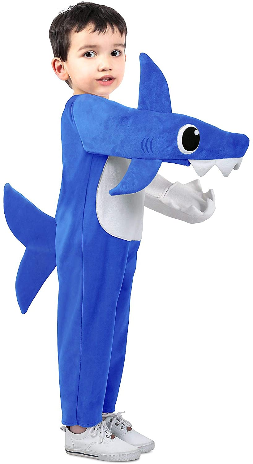The Diamond Collection Daddy Shark Costume for Toddlers, Extra-Small, Includes a Jumpsuit, Fins, and a Tail