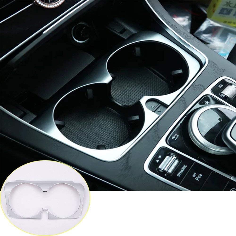 Water Cup Holder Cover Trim for Mercedes Benz C E GLC Class W205 W213 2015-2019