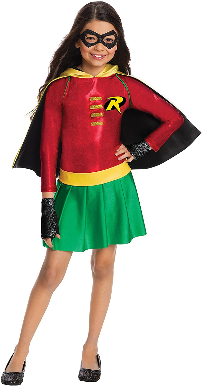 Rubies Costume Boys DC Comics Robin Dress Costume, Medium, Multicolor