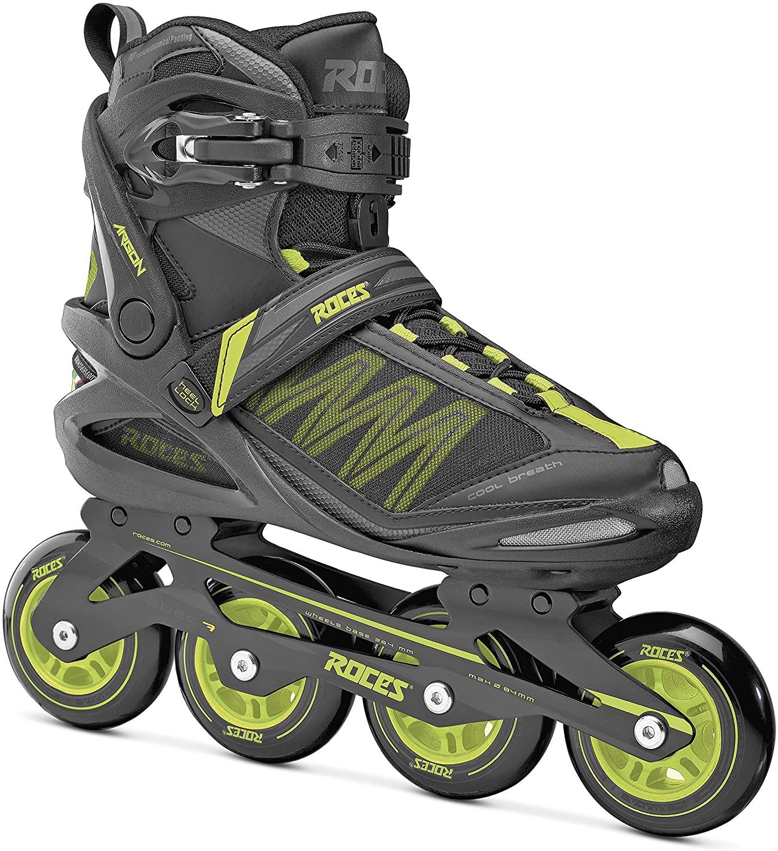Roces 400765 Men's Model Xenon 2.0 Fitness Inline Skate, US 12, Black/Lime