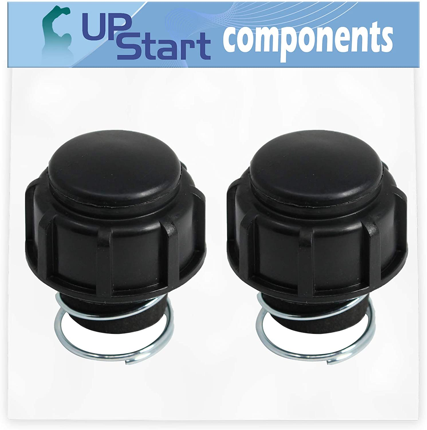 UpStart Components 2-Pack 791-181468B Bump Head Knob Assembly Replacement for Ryobi 705r (41BD705G034) Handheld Trimmer - Compatible with 181468 Bump Knob and Spring Assembly