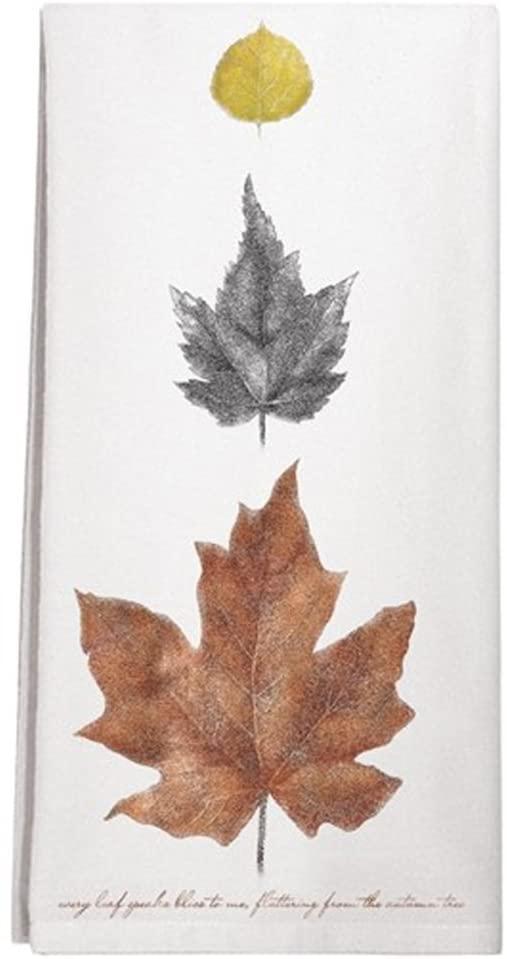 Montgomery Street Autumn Leaves Cotton Flour Sack Dish Towel