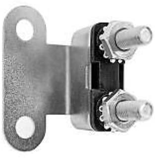 15A Type 2 Circuit Breaker, 15 Amp Auto Reset, Bracket, Nuts/Washers, CB129-15