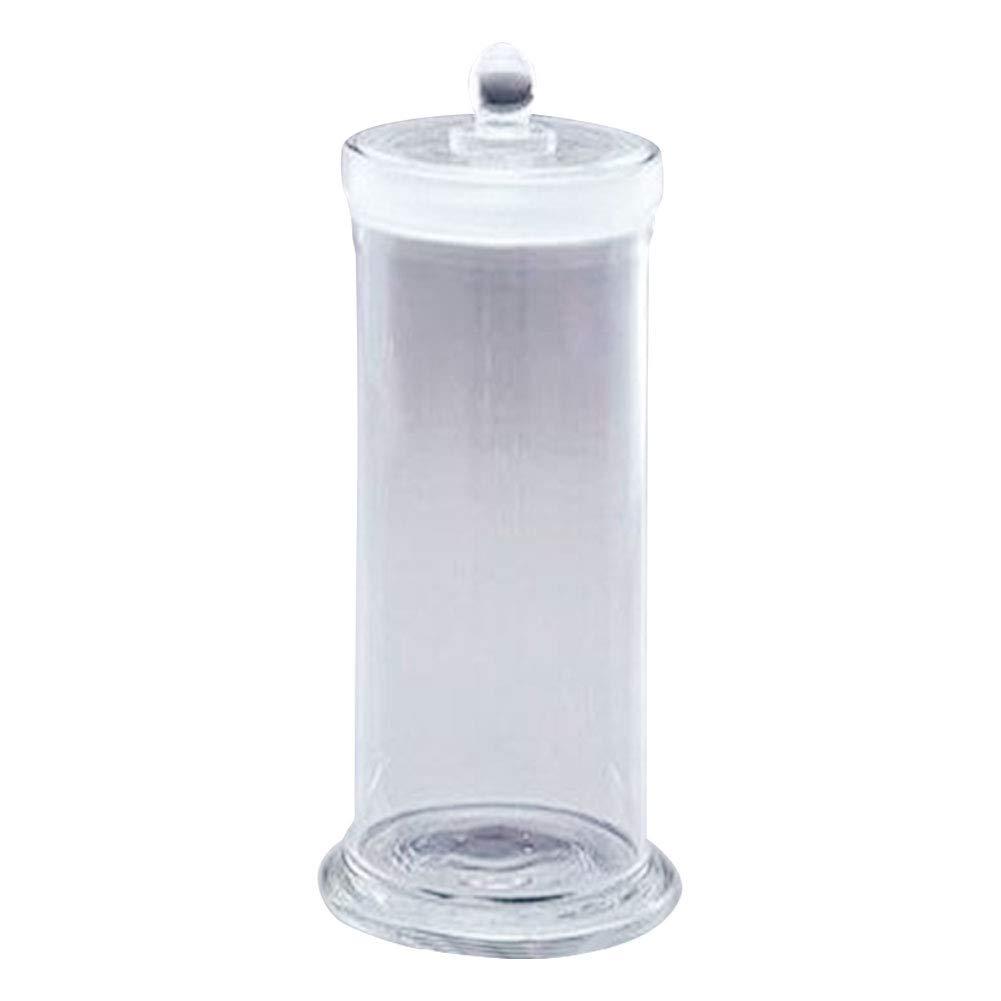 Adamas-Beta Borosilicate Glass Specimen Bottle with Ground Lid Diameter, Glass Specimen Container, Inner Diameter×Height 60×240mm/2.36×9.45inch, Pack of 1