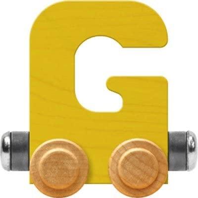 Maple Landmark NameTrain Bright Letter Car G - Made in USA (Yellow)