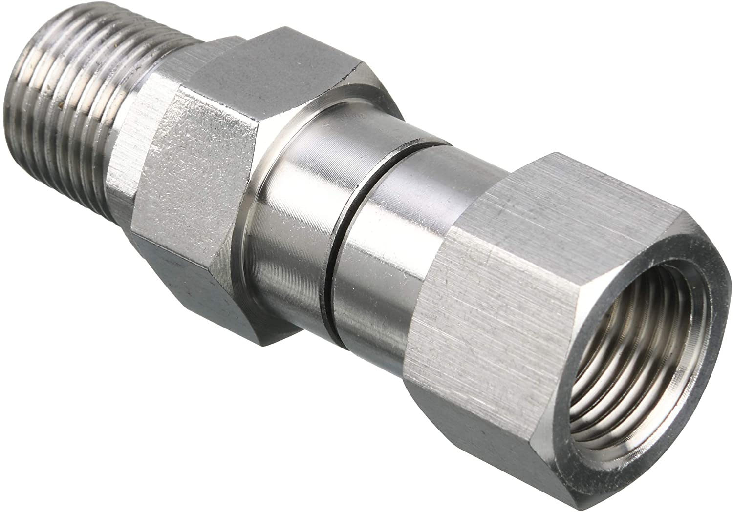 M MINGLE Pressure Washer Swivel, 3/8 Inch NPT Male Thread Fitting, Stainless Steel, 4500 PSI