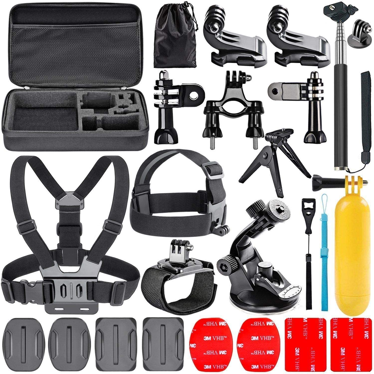 Navitech 18-in-1 Action Camera Accessories Combo Kit with EVA Case - Compatible with The GoPro HERO7 4K Digital Action Camera