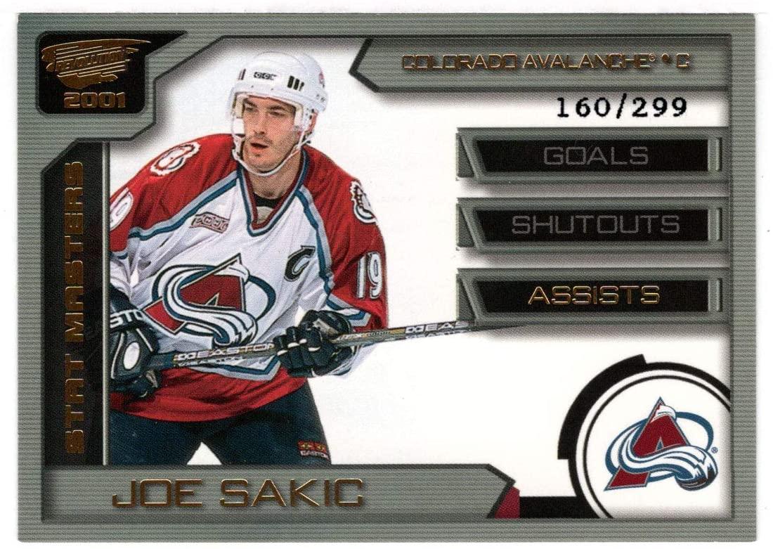 Joe Sakic 160/299 - Colorado Avalanche (Hockey Card) 2000-01 Pacific Revolution Stat Masters # 24 Mint