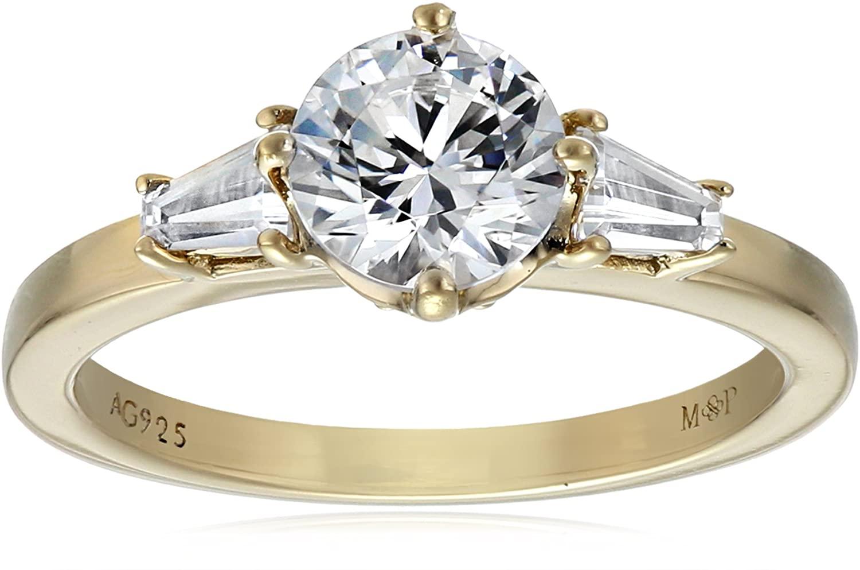 Myia Passiello Essentials Swarovski Zirconia Three Stone  Ring