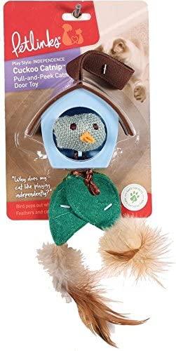 Petlinks Cuckoo Catnip Pull-and-Peek Door Hanger Cat Toy
