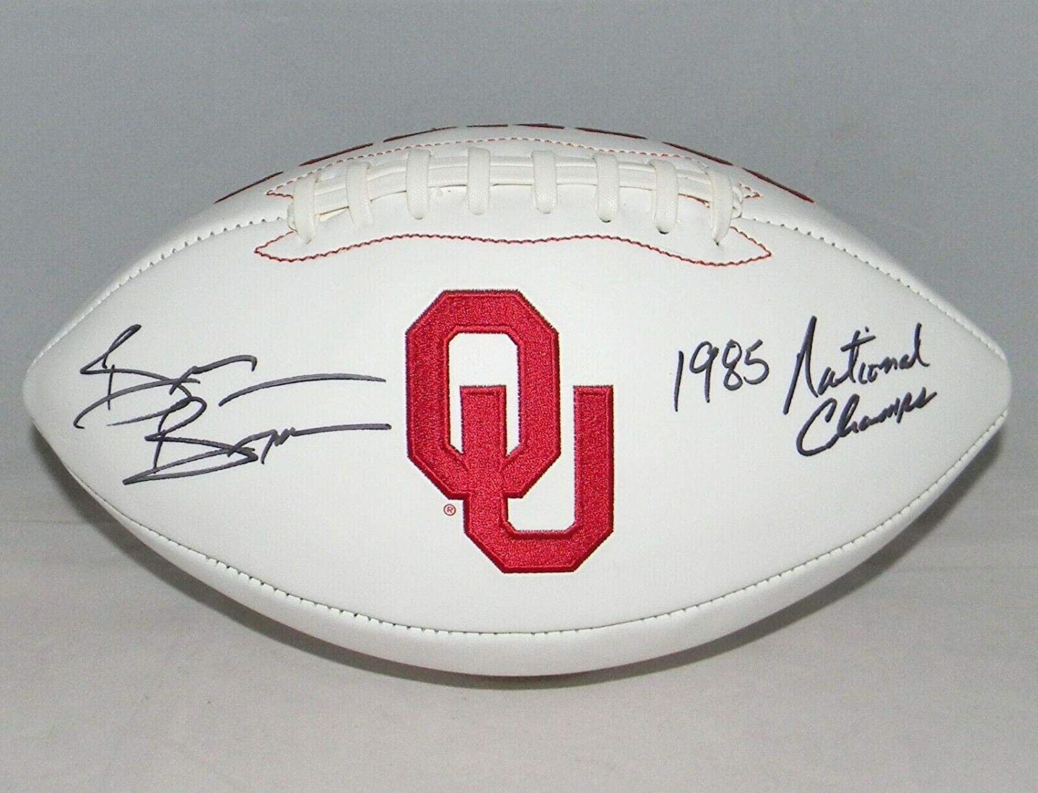 Brian Bosworth Autographed Signed Oklahoma Sooners Football W/ 1985 Champs - JSA Certified - Autographed College Footballs