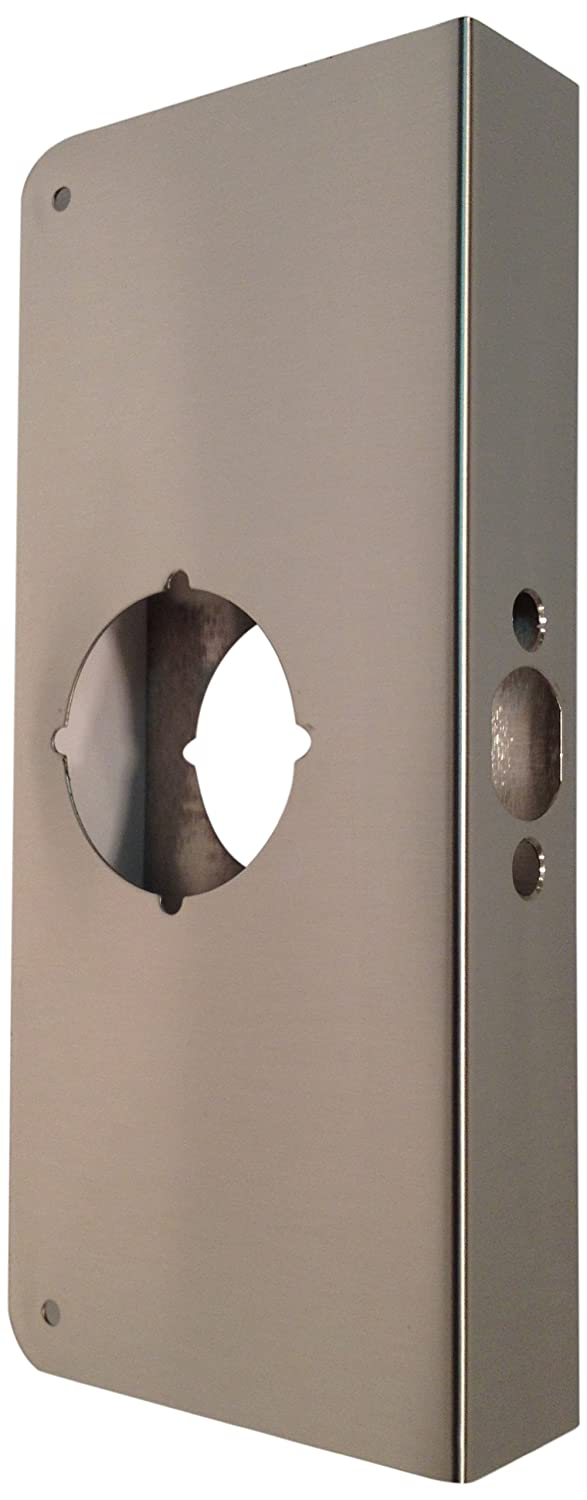 Don-Jo 71 VF Flat Front Wrap-Around Plate, Satin Stainless Steel Finish (Pack of 10)