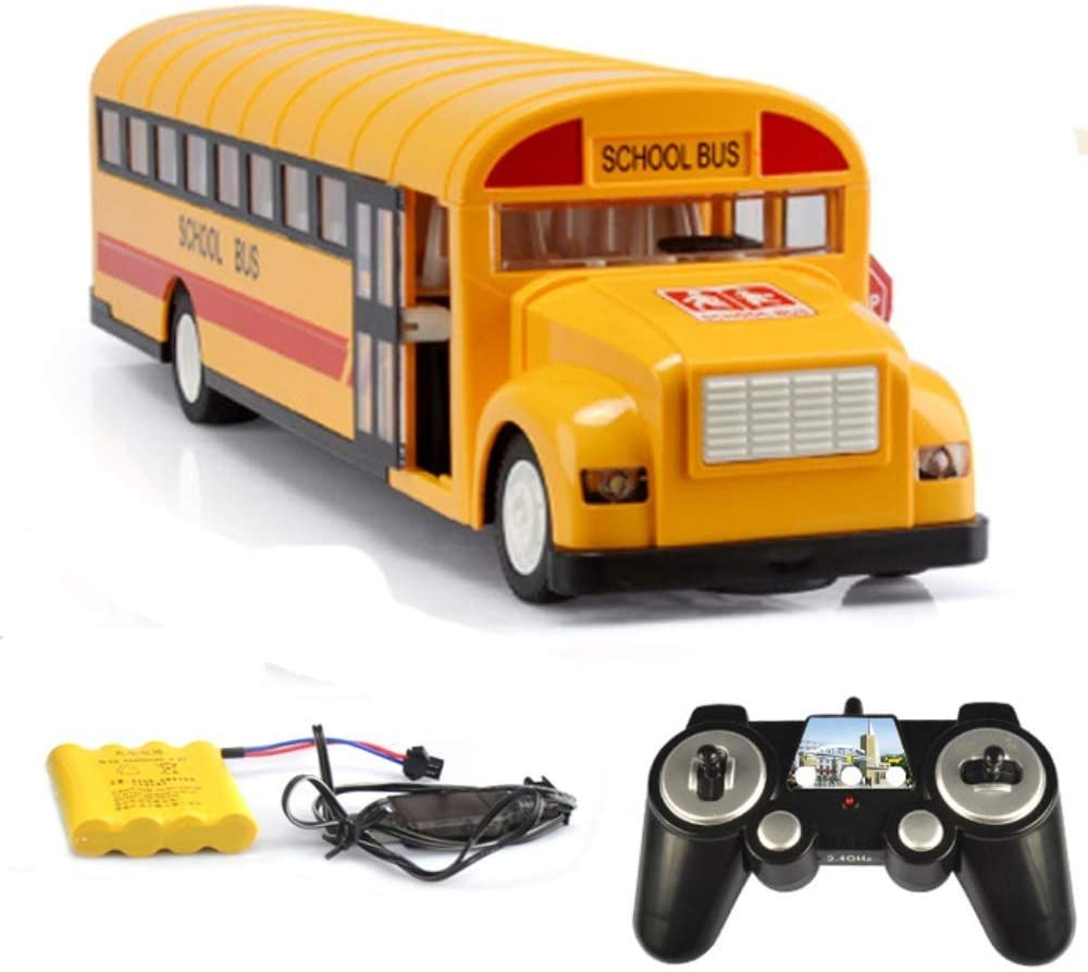 TCAR Remote Control American Bus School Bus Wireless Toy Rechargeable Large Children's Gift Alloy Simulation Plastic Material Model Car - Suitable for Variety Scenes