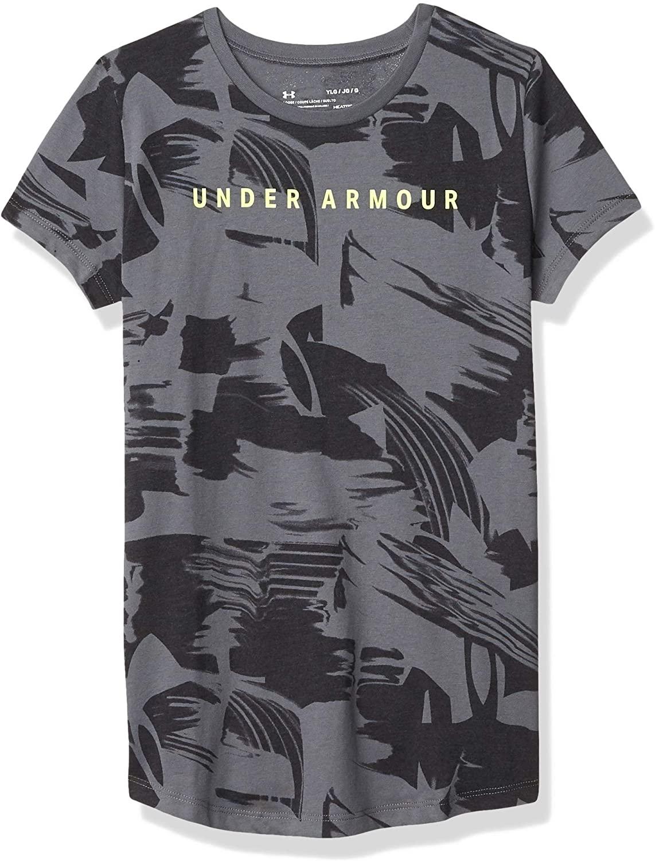 Under Armour Girls' Allover Print Graphic T-shirt Short Sleeve