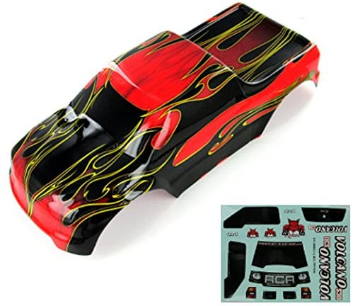 Redcat Racing 88049-R Truck Body (1/10 Scale, Red Flame)
