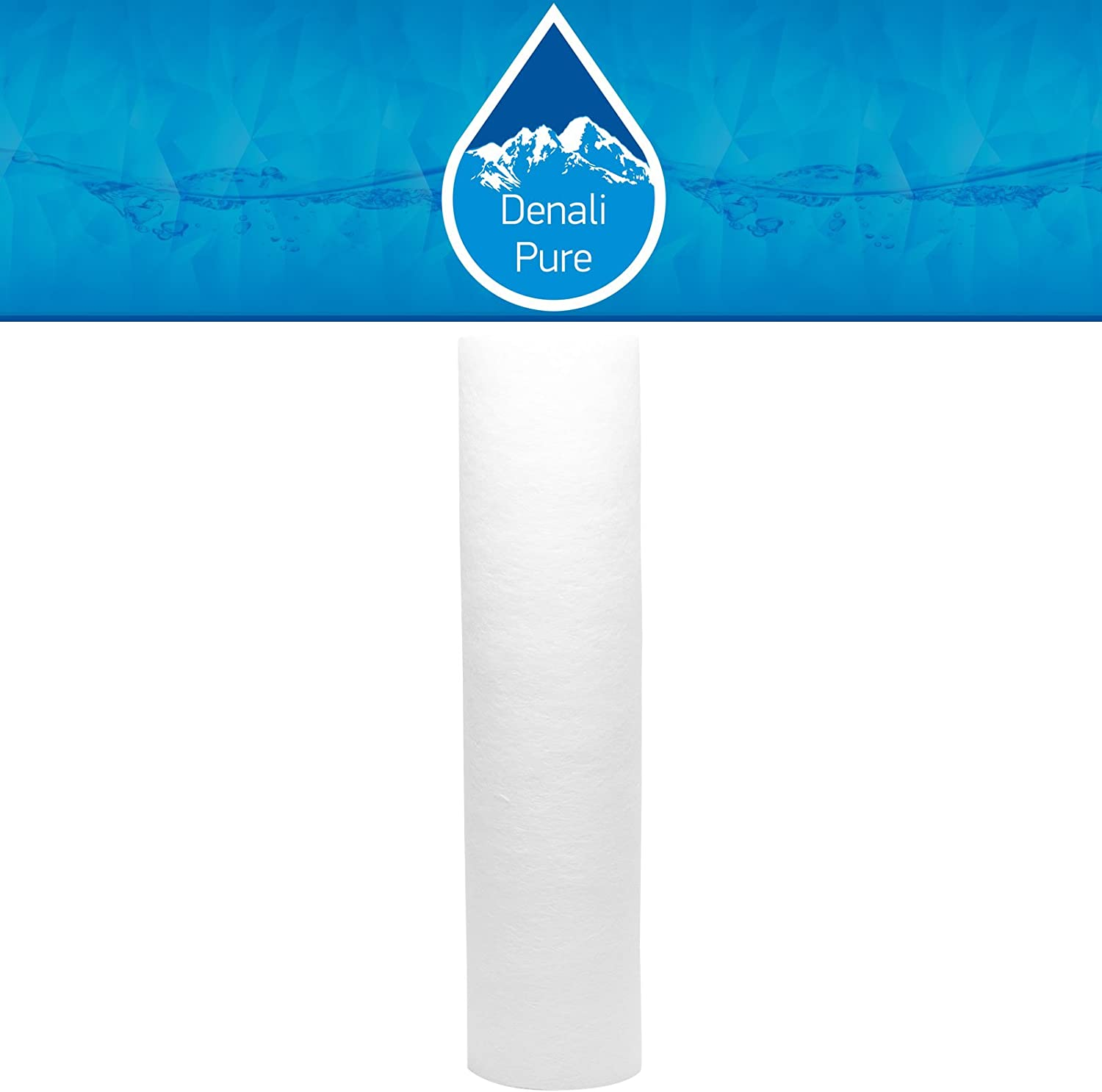 Replacement for H2O Distributors H2O-RUS-300-I Polypropylene Sediment Filter - Universal 10-inch 5-Micron Cartridge Compatible with H2O Distributors Under Sink Filter - Denali Pure Brand