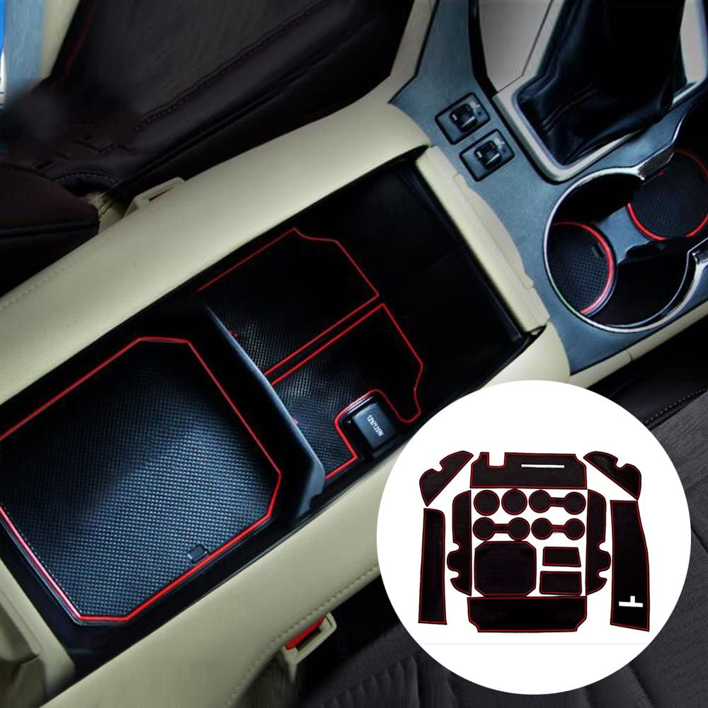 Custom Fit Cup Holder and Door Liner Accessories fits for Toyota Highlander 2015 (16pcs).