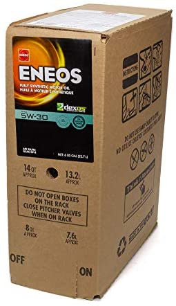 Eneos 3703-400 Full Synthetic Motor Oil, 6 Gallon, 1 Pack